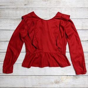 Zara Long Sleeve Ruffled blouse
